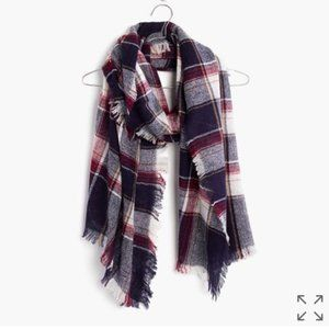 NWT Madewell Rangeplaid Scarf in Midnight